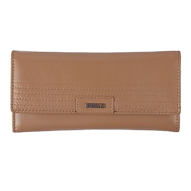 Roots RFID Slim Clutch Wallet, Ladies, Camel, RT19671-S5-C