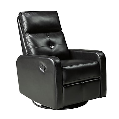 Brassex JF657 Recliner with Swivel and Rocker, 30 x 28.5 x 40, Espresso