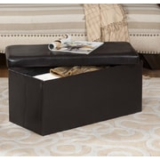 InRoom Designs Upholstered Storage Bench Ottoman