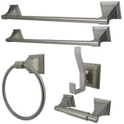 Kingston Brass Monarch 5 Piece Bathroom Hardware Set; Satin Nickel