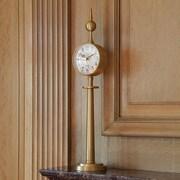 Global Views Tower Clock; Brass