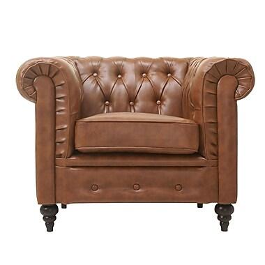 Gold Sparrow Arlington Club Chair; Chestnut