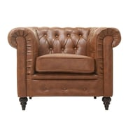 Gold Sparrow Arlington Club Chair; Chestnut