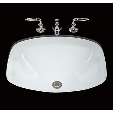 Bates & Bates Loretta Ceramic Rectangular Undermount Bathroom Sink w/ Overflow; White