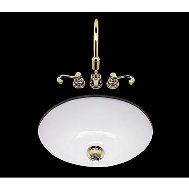 Bates & Bates Teri Ceramic Circular Drop-In Bathroom Sink; Weathered Brass