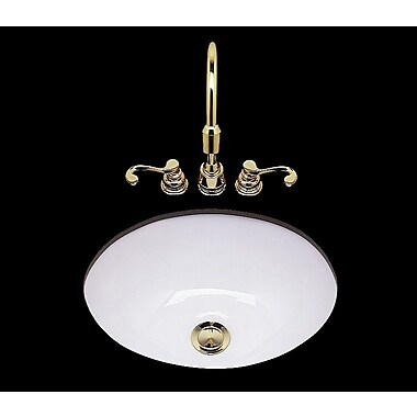 Bates & Bates Teri Circular Undermount Bathroom Sink; White