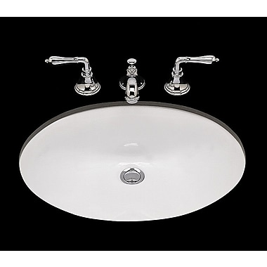 Bates & Bates Doreen Double Glazed Bathroom Sink with Overflow; Biscuit
