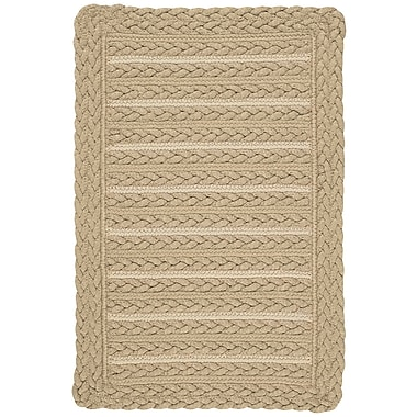Capel Boathouse Beige Indoor/Outdoor Area Rug; Cross Sewn Square 3'