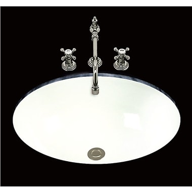 Bates & Bates Debbie Oval Undermount Bathroom Sink w/ Overflow; Biscuit