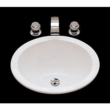 Bates & Bates Suzanne Ceramic Circular Drop-In Bathroom Sink w/ Overflow; White