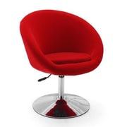 Ceets Adjustable Leisure Swivel Barrel Chair; Red