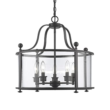 Z-Lite Wyndham 5-Light Foyer Pendant; Bronze