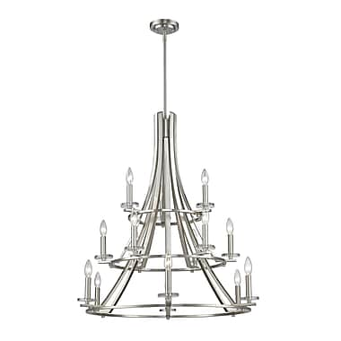 Z-Lite Verona 15-Light Semi Flush Mount; Brushed Nickel