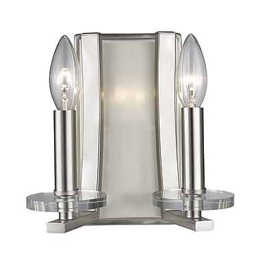 Z-Lite Verona 2-Light Wall Sconce; Brushed Nickel