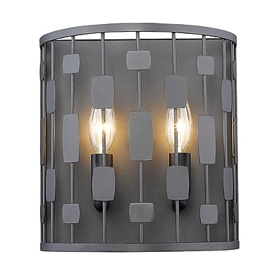 Z-Lite Almet 2-Light Wall Sconce; Bronze