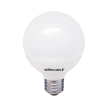 Northern Stars 80093 LED Light Bulb, G25 8W, Dimmable, Frosted, White, 2/Pack