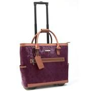 Cabrelli & Co. – Sac pour ordinateur portatif Polly Python, à roulettes, 15 po, marsala/cognac