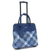 Cabrelli & Co. – Sac pour ordinateur portatif Mindy Mingle, à roulettes, 15 po, bleu marine/bleu