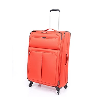 Ricardo Beverly Hills - Valise verticale extensible Santa Monica de 28 po, orange