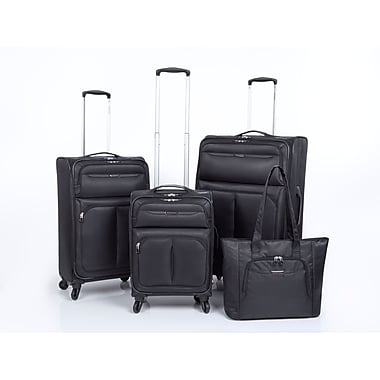 Ricardo Beverly Hills Santa Monica 4-Piece Luggage Set, Black