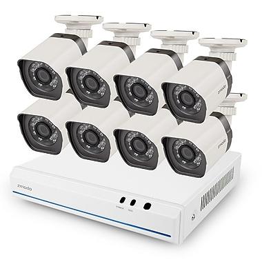 Zmodo – CA-SS78D9D8-S2TB Système de sécurité 2e génération sPoE 8 canaux NVR avec 8 caméras 720 p, disque dur de 2 To