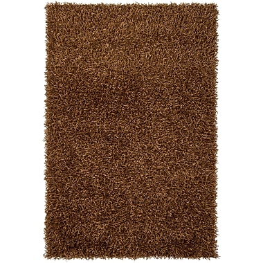 Chandra Zara Chocolate Area Rug; Rectangle 4' x 6'
