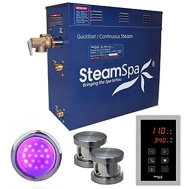 Steam Spa Indulgence 10.5 kW QuickStart Steam Bath Generator Package; Brushed Nickel
