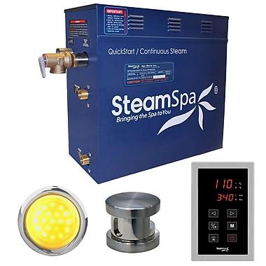 Steam Spa Indulgence 6 kW QuickStart Steam Bath Generator Package; Brushed Nickel