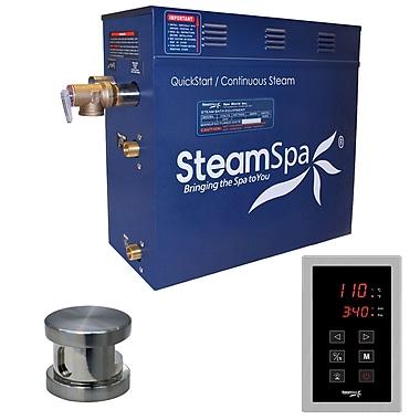 Steam Spa Oasis 4.5 kW QuickStart Steam Bath Generator Package; Brushed Nickel