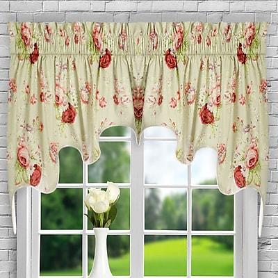Ellis Curtain Sanctuary Rose Curtain Valance; Linen