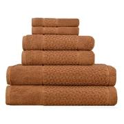 Makroteks Textile L.L.C. Lucia Minelli Jacquard Mei Tal Classic 6 Piece Towel Set; Light Brown