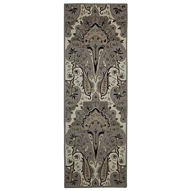 St. Croix Structure Hand-Tufted Silver Area Rug; Runner 2'6'' x 12'