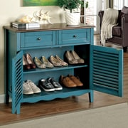 Hokku Designs Soniya 8-Pair Shoe Storage Cabinet; Blue