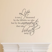 Belvedere Designs LLC Quotes  Life Is Not Measured Wall Decal