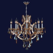Worldwide Lighting Lyre 8-Light Crystal Chandelier