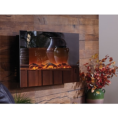Touchstone Mirror Onyx? Wall Mounted Electric Fireplace