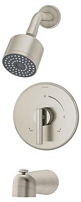 Symmons Dia Pressure Balance Tub and Shower Unit w/ Lever Handle; Satin Nickel