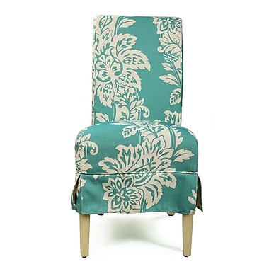 AdecoTrading Parsons Chair (Set of 2); Blue