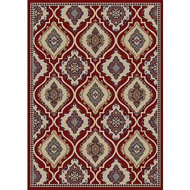 Mayberry Rug Hometown Classic Panel Claret Area Rug; 5' x 8'