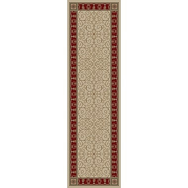 Mayberry Rug Hometown Paloma Antique/Claret Area Rug; Runner 2' x 8'