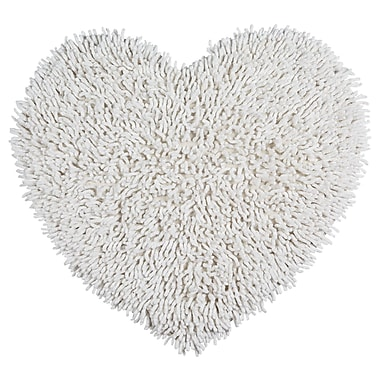 St. Croix Shagadelic Hand-Loomed White Area Rug; Heart 1'8'' x 2'