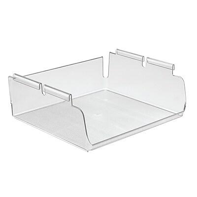 InterDesign Wire Shelving Organizer Under Shelf Bin, Large, Clear (45070)