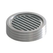 InterDesign Forma Coasters, Brushed Stainless Steel/Black, 4/Set (20550)