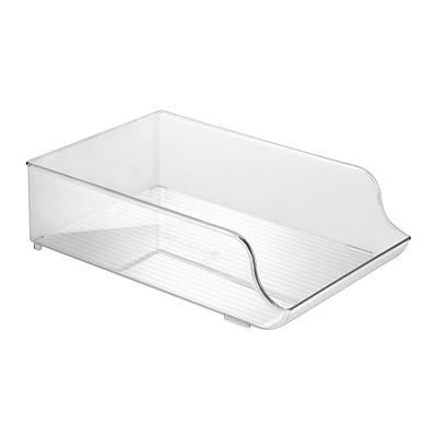 InterDesign Refrigerator Water Bottle Holder, Storage Organizer for Kitchen, Clear (72730)