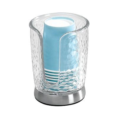 InterDesign Rain Disposable Paper Cup Dispenser for Bathroom Countertops, Clear (53650) 2094279