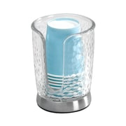 InterDesign Rain Disposable Paper Cup Dispenser for Bathroom Countertops, Clear (53650)