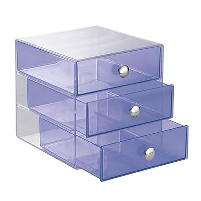 InterDesign, Drawers, Original 3 Drawer, Plastic, Violet (35377)