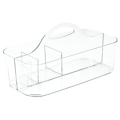 InterDesign Clarity Bath Health and Beauty Supplies Organizer Tote, Small, Clear (40780)