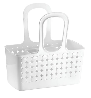 InterDesign Orbz Divided Bath Shower Tote, Small, White (79141)