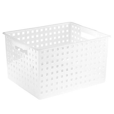 InterDesign Household Storage Basket, Large, Frost (61870)